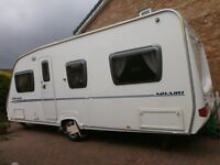 4 berth end bed room fixed double bed in stunning condition with remote mover