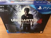 Latest slim PS4 500GB Uncharted 4 bundle receipt and warranty