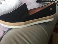 Ladies black suede shoes