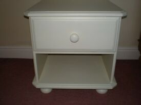 BEDSIDE CABINET - PAINTED PINE WOOD