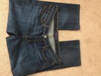 Levi's jeans slight curve straight leg 33/18