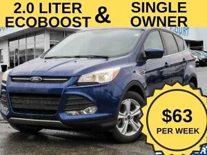 2015 Ford Escape SE|2.0L|Heated Seats|$67/wk|Single Owner|Gas Sa