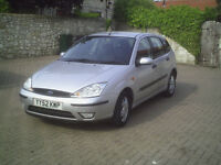 2002 Ford Focus 1.6 Zetec Serviced ; Service History, Handbook and Spare Key