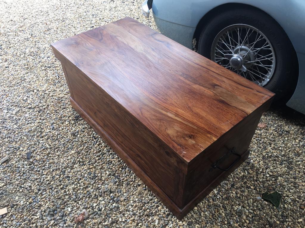 Ottoman/wooden trunk from John Lewis