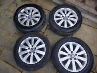 """Volkswagen VW T5 original 17"""" alloy wheels x 4"""