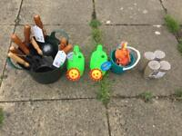 Garden tools and beach toys
