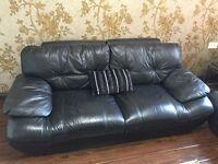 Leather look like black sofa