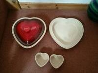Le creuset oven dishes heart shape read
