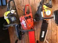 3 chainsaws spares or repairs