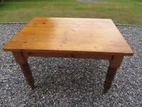 Old solid pine kitchen table