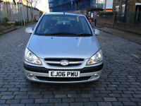 2006 Hyundai Getz 1.1 5dr hatchback Manual Petrol MOT november2017 full service history