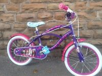 "New Bratz Cruiser 16"" Girls Bike - Beach Low Rider - RRP £225"