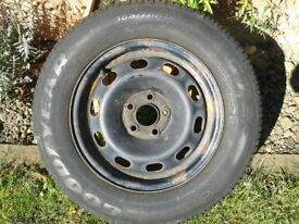 MK1 OCTAVIA OR FABIA 14''STEEL WHEEL SPARE WITH FREE TYRE