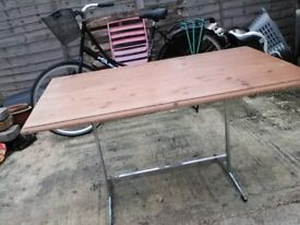 Pine table ( chrome legs )