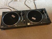 Technics SL 1210 MK2 Pair Turntables Decks