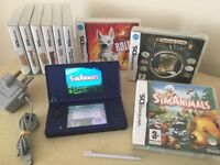 Nintendo DSi Console Blue + 9 Games + Charger