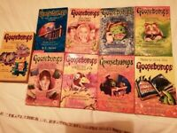 Set of Goosebumps books