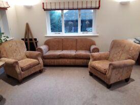 Three Piece Sofa & Armchairs