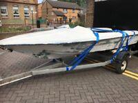 """Fetcher Arrow 14 foot speed boat """" classic """""""