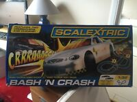 Scalextric bash and crash excellent Christmas present worth over £100