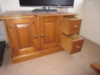 Good Quality, Spacious, Pine TV Cabinet