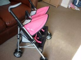 Silver Cross Dolls Double Buggy