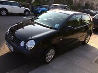 2004 Black VW Polo 3dr 1.2l