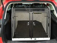 Lintran Dog Crate - Lockable double doors with non-slip mat