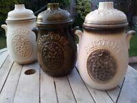 3x Vintage Antique RUMTOPF 801-26 preserving Kitchen storage jars pots Scheurich Germany West German