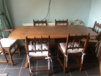 ERCOL (as sold in John Lewis) 1982 Table and Chairs
