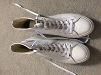 NEW Converse All Star Hi Leather White Mono