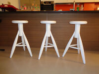 Rocket stools (white) from Skandium - new condition