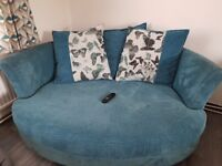 Four seater pillow back lounger sofa and three seater cuddle sofa bought from DFS .