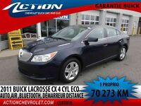 2011 BUICK LACROSSE CX AUTO,AIR,4 CYL ECO,BLUETOOTH