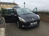 Peugeot 5008 2010 Exclusive 7-seater Black MPV - Sat Nat & Heads-up Display
