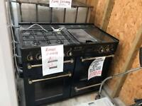 *+BLUE LEISURE RANGEMASTER 110 CMS GAS/ELECTRIC RANGE IN GREAT WORKING+CONDITION ORDER*+*