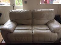 2 & 3 seater manual recliner leather sofas