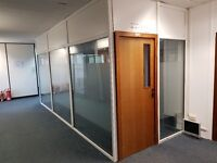 office partitions frame and glass sound proof , office tables, chairs, furniture at bargain price