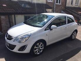 Vauxhall Corsa 1.2 Active, 3dr, White, Half leather, A/C, Bluetooth