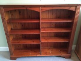 Solid wood shelf unit