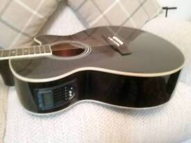 HUDSON HF1DX ELECTRO ACOUSTIC IN GREAT CONDITION.