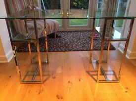 Glass desk, excellent condition