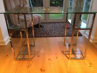Glass desk, excellent condition