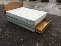Bargain Double Bed & Luxury Mattress, Clean Condition, Free Delivery In Norwich,