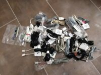 Job lot of various RJ11 router cables, telephone cables, ADSL filters etc