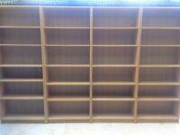 Four IKEA Tall Billy Bookcases - Oak Veneer