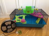 Hamster Heaven Metro (Savic), large hamster cage, in excellent condition with added large wheel