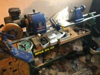Incredible complete wood-turning setup - over £1500 spent! Yours for £650! Record CL-3, Stand, Tools