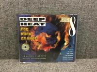 Rare retro Big Box 90s 1990s DEEP HEAT 8 MUSIC CD 32 Club Hits Primal Scream Shamen SDHC