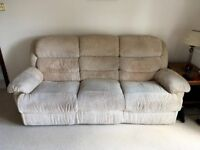 Recliner 3 Seater Sofa – Excellent Condition